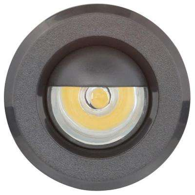Mini Warm White Integrated LED Recessed Puck Light with 1.5 in. Black Polycarbonate Trim Ring
