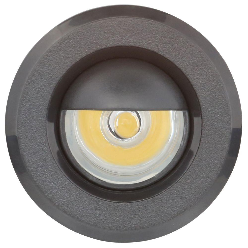 Armacost Lighting Mini Warm White Integrated Led Recessed Puck Light With 1 5 In Black Polycarbonate Trim Ring
