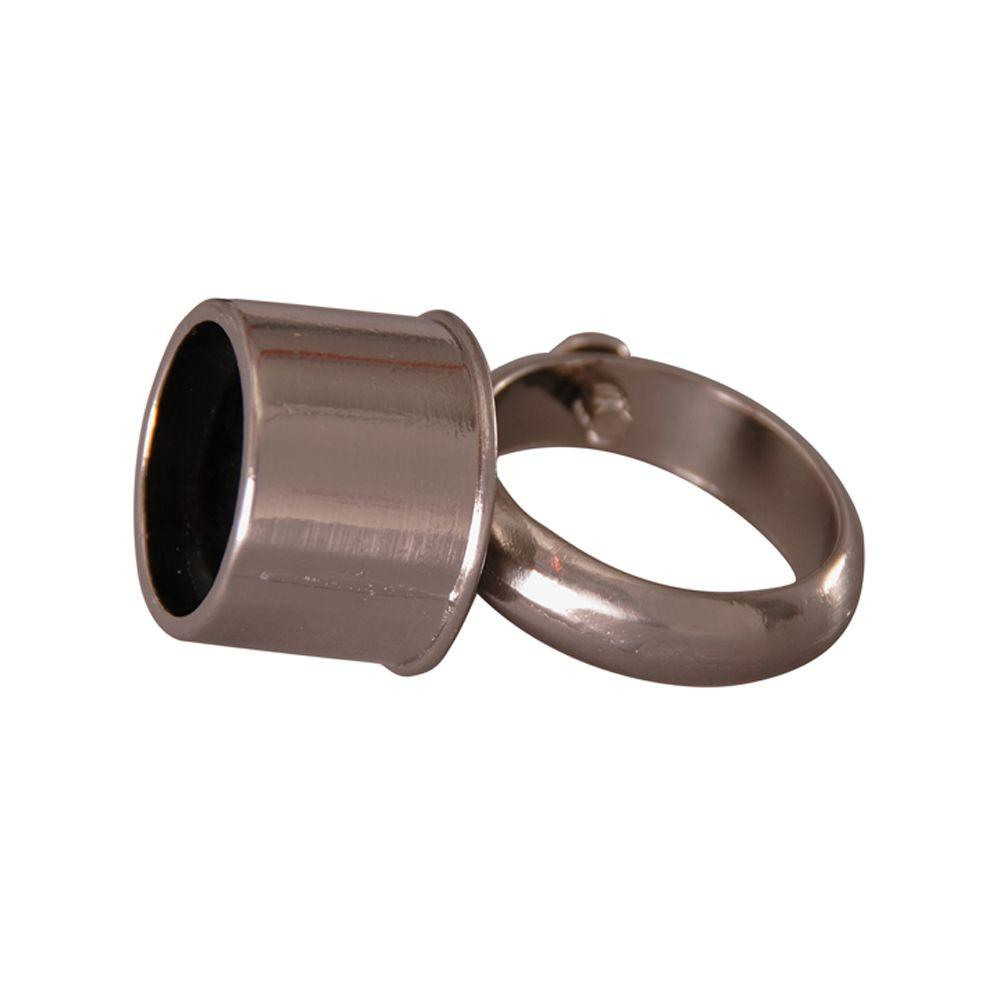 Barclay Products 2 in. D-Rod Loop Connector in Polished Nickel