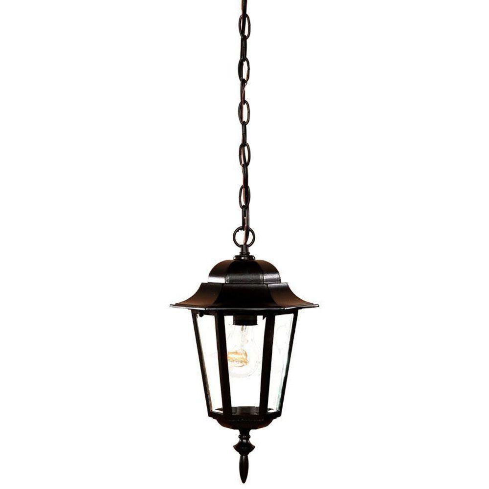 Acclaim Lighting Camelot Collection 1-Light Matte Black Outdoor Hanging Lantern