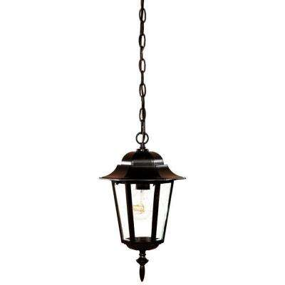 Camelot Collection 1-Light Matte Black Outdoor Hanging Lantern
