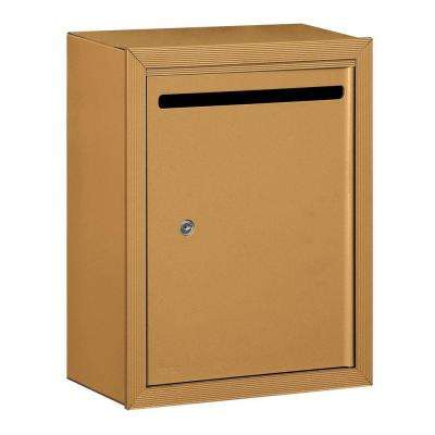 2240 Series Standard Brass Surface-Mounted Private Letter Box with Commercial Lock