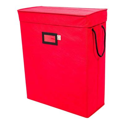 Red Gift Bag and Tissue Paper Storage Box