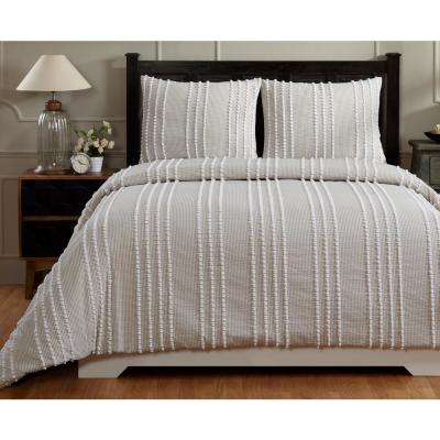 Winston 104 in. X 90 in.  Taupe King Comforter with 20 in. X 36 in. 2-King Sham