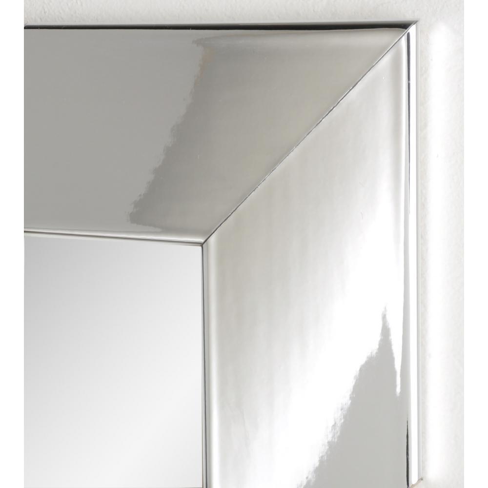 Brandtworks Ultra Modern Chrome Framed Mirror Bm015l The Home Depot