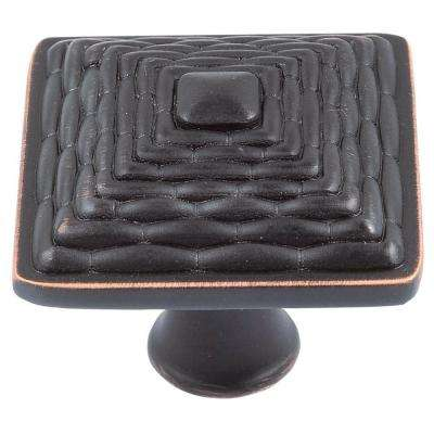 Mandalay Collection 1-1/4 in. Venetian Bronze Square Cabinet Knob