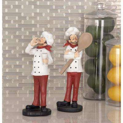 Master Chef Polystone Sculptures (Set of 2)