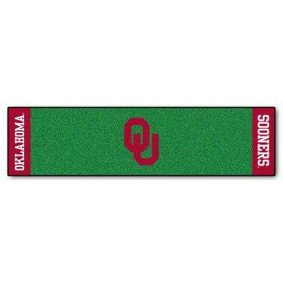 NCAA University of Oklahoma 1 ft. 6 in. x 6 ft. Indoor 1-Hole Golf Practice Putting Green