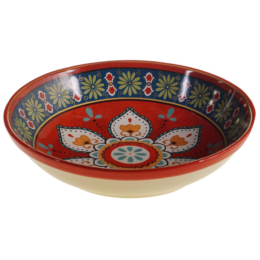 La Vida Multi-Colored 13 in. Serving/Pasta Bowl