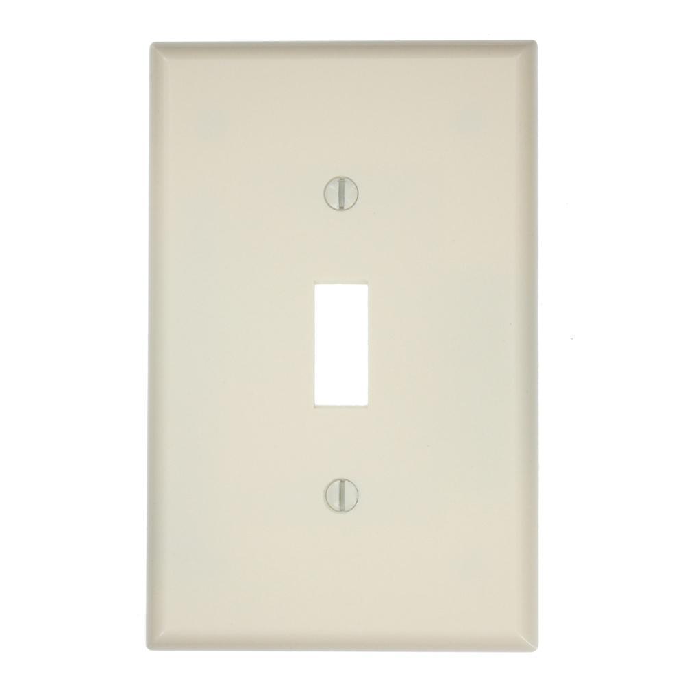 Leviton 1 Gang Toggle Midsize Switch Wall Plate Light Almond