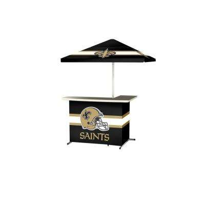 New Orleans Saints All-Weather L-Shaped Patio Bar with 6 ft. Umbrella