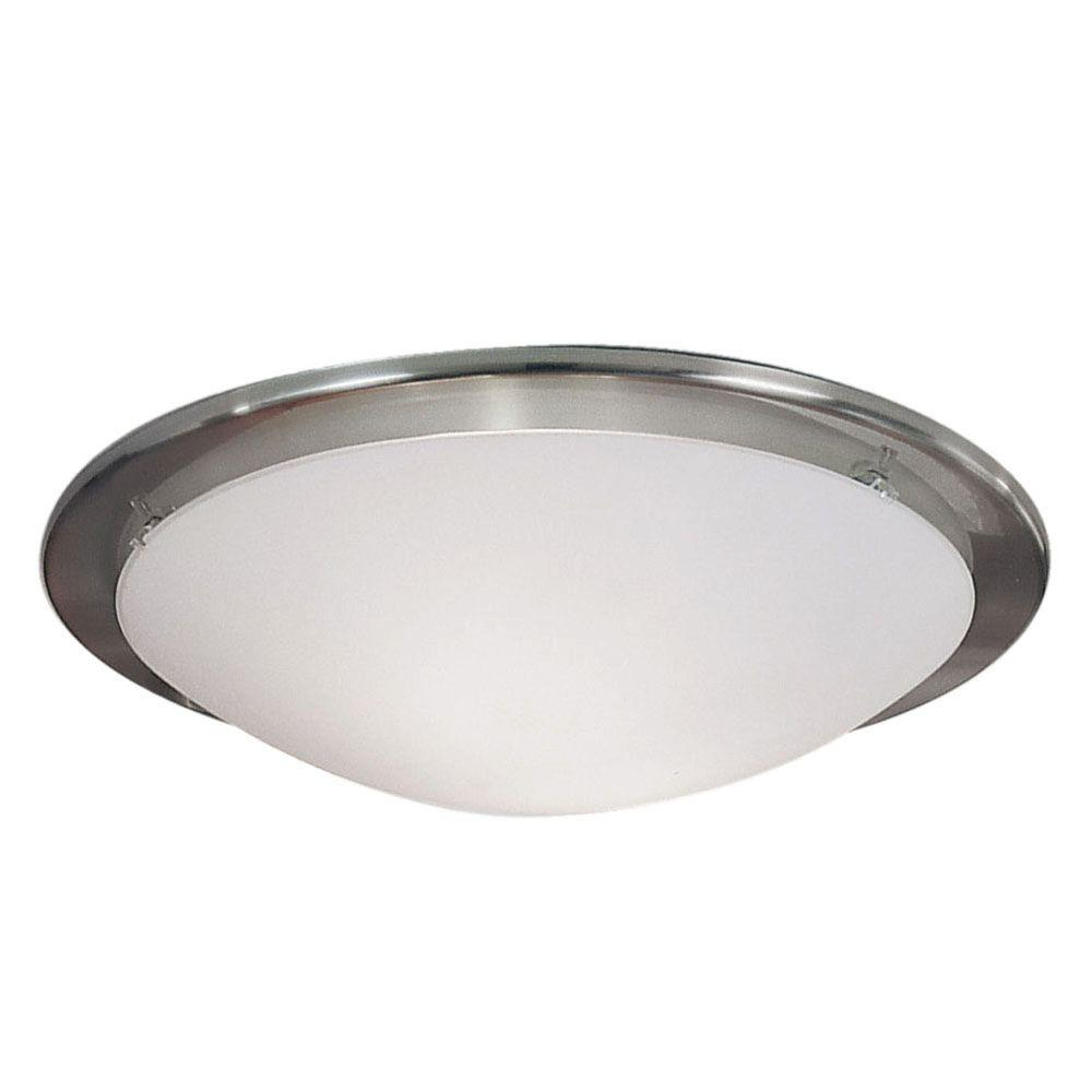 Planet 2-Light Matte Nickel Wall/Ceiling Semi-Flushmount