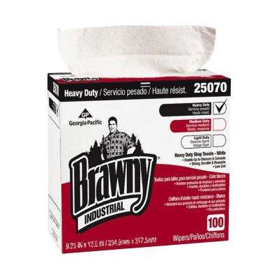 White Medium Weight Shop Towels (100-Box)