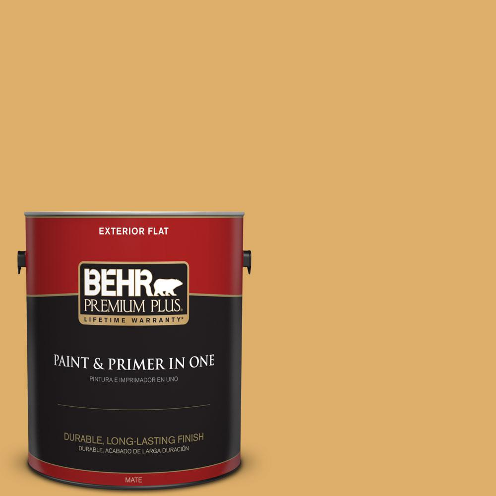 1-gal. #320D-5 Sweet Maple Flat Exterior Paint