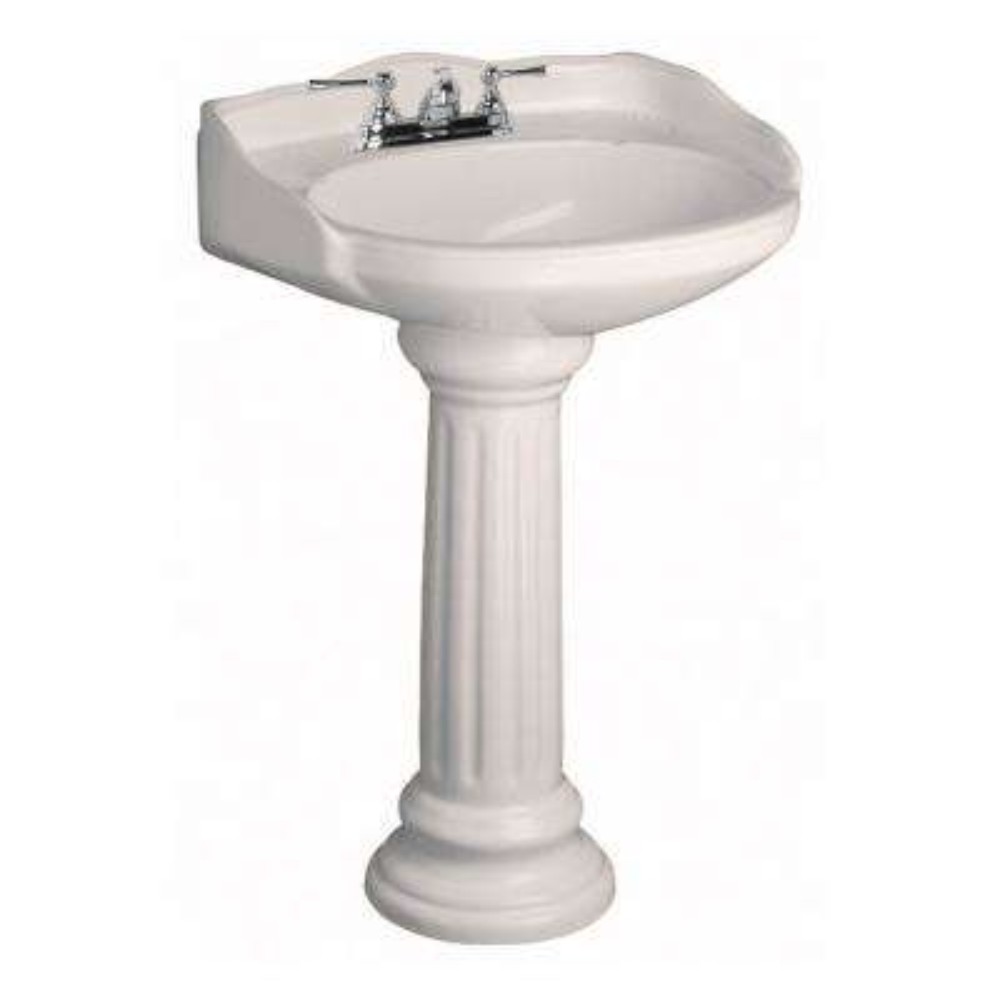 Vicki 22 in. Pedestal Combo Bathroom Sink in Bisque