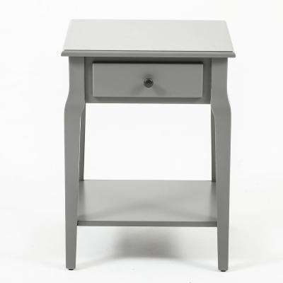 Gray Single Drawer End Table
