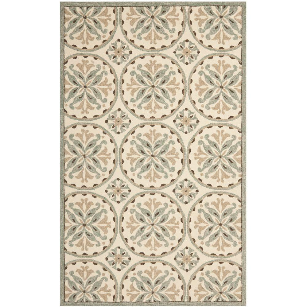 Safavieh Four Seasons Green/Brown 8 ft. x 10 ft. Indoor/Outdoor Area Rug