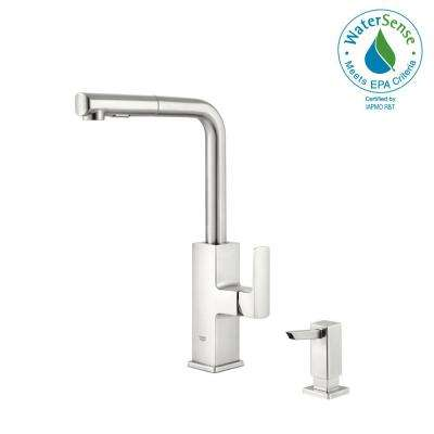 Tallinn Single-Handle Pull-Out Sprayer Kitchen Faucet in SuperSteel Infinity Finish