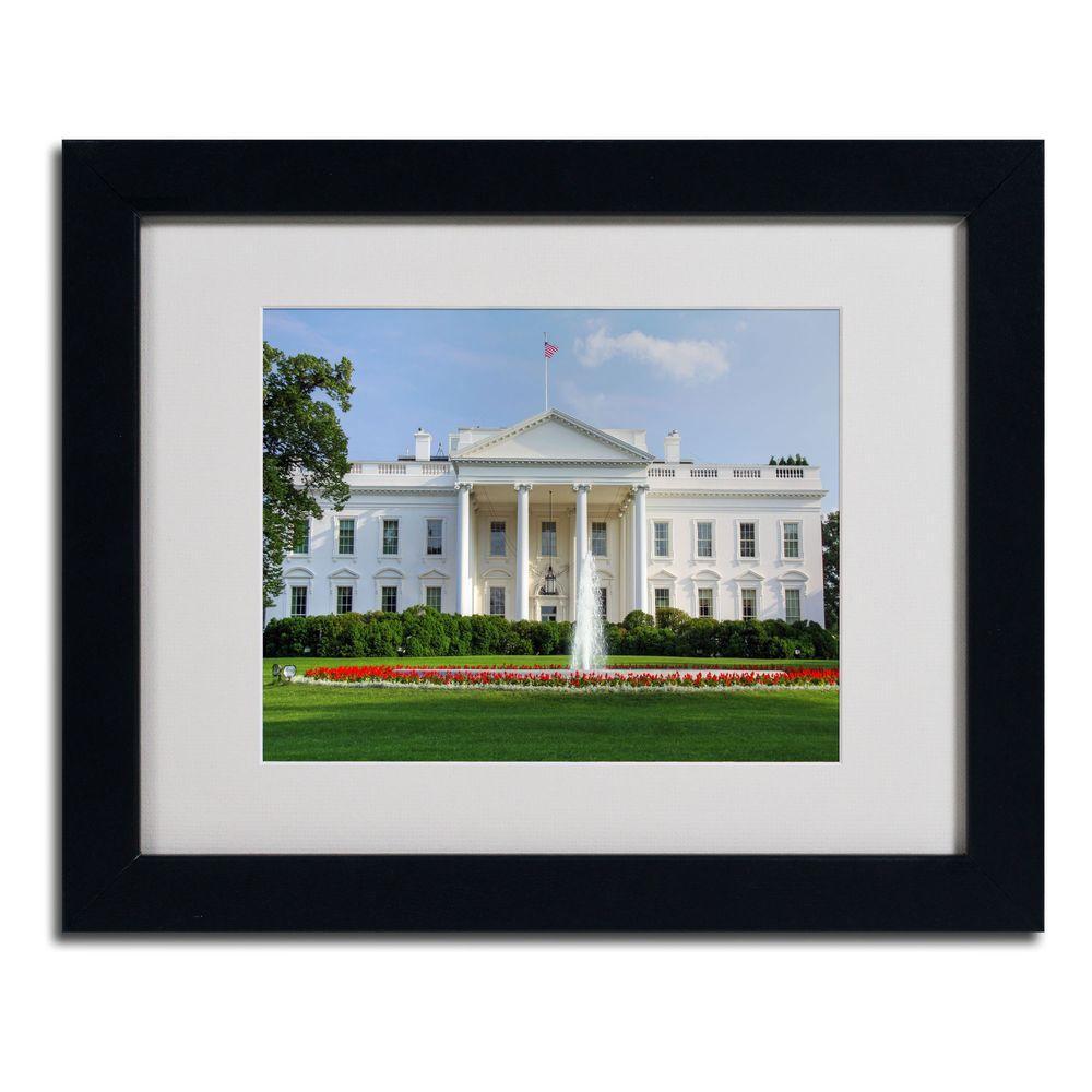 Trademark Fine Art 11 in. x 14 in. White House Matted Framed Art