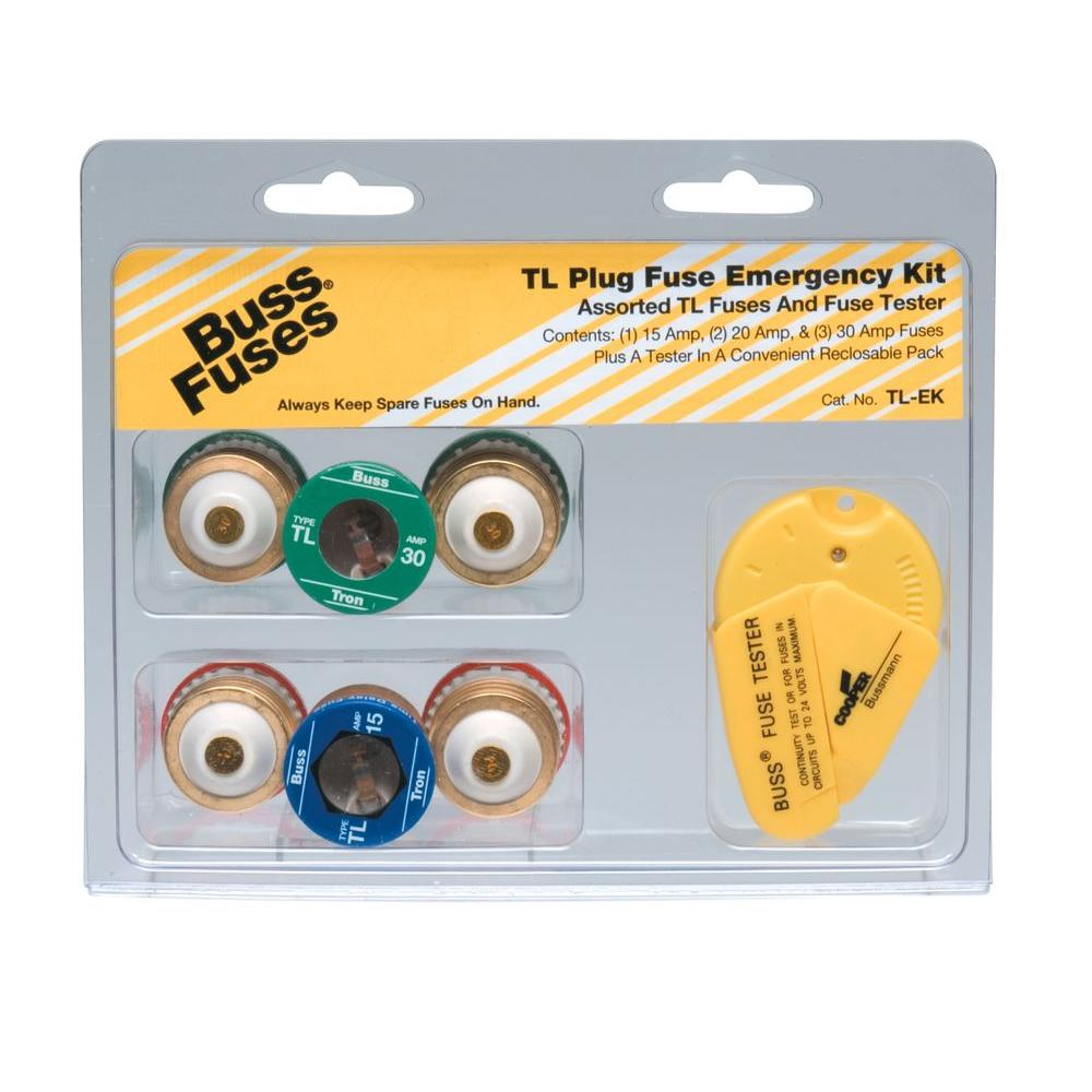 cooper bussmann fuses tl ek 64_1000 cooper bussmann tl style plug fuse emergency kit tl ek the home fuse box cover home depot at bayanpartner.co