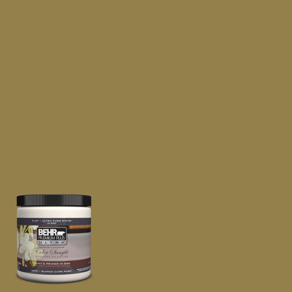 BEHR Premium Plus Ultra 8 oz. #UL200-21 Lucky Bamboo Interior/Exterior Paint Sample