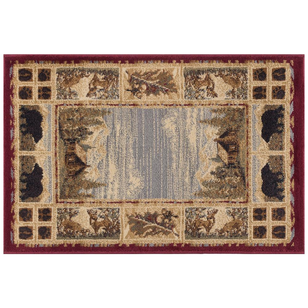 tayse rugs nature red 2 ft. x 3 ft. accent rug-ntr6700 2x3 - the