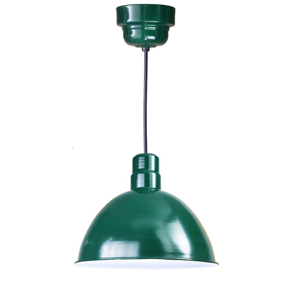 illumine 1 light outdoor hanging green deep bowl pendant. Black Bedroom Furniture Sets. Home Design Ideas