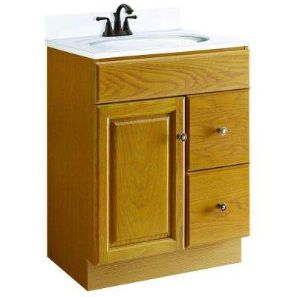 Claremont 24 in. W x 18 in. D Unassembled Vanity Cabinet Only in Honey Oak