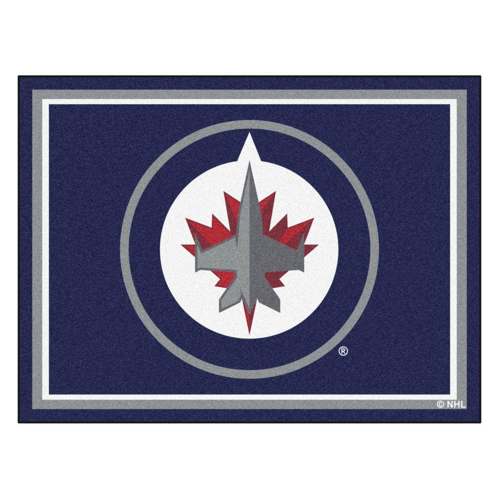 Fanmats Nhl Winnipeg Jets Navy Blue 8 Ft X 10 Ft Indoor