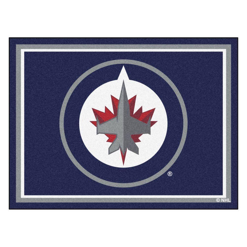 NHL Winnipeg Jets Navy Blue 8 ft. x 10 ft. Indoor Area Rug