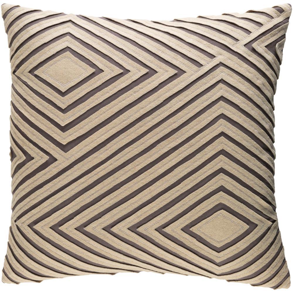 ArtisticWeavers Artistic Weavers Bourlet Khaki Geometric Polyester 18 in. x 18 in. Throw Pillow, Green