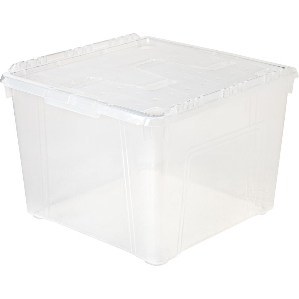 60-Qt. Wing Lid Storage Box in Clear (6-Pack)