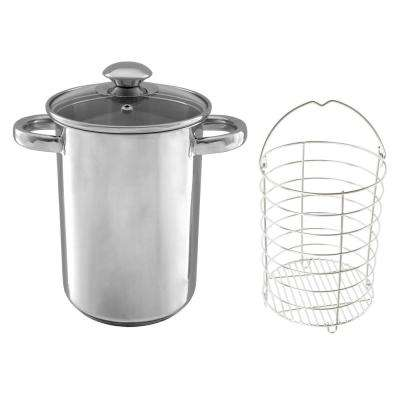 3 Qt. Stainless Steel Steamer Pot with Mesh Basket and Lid