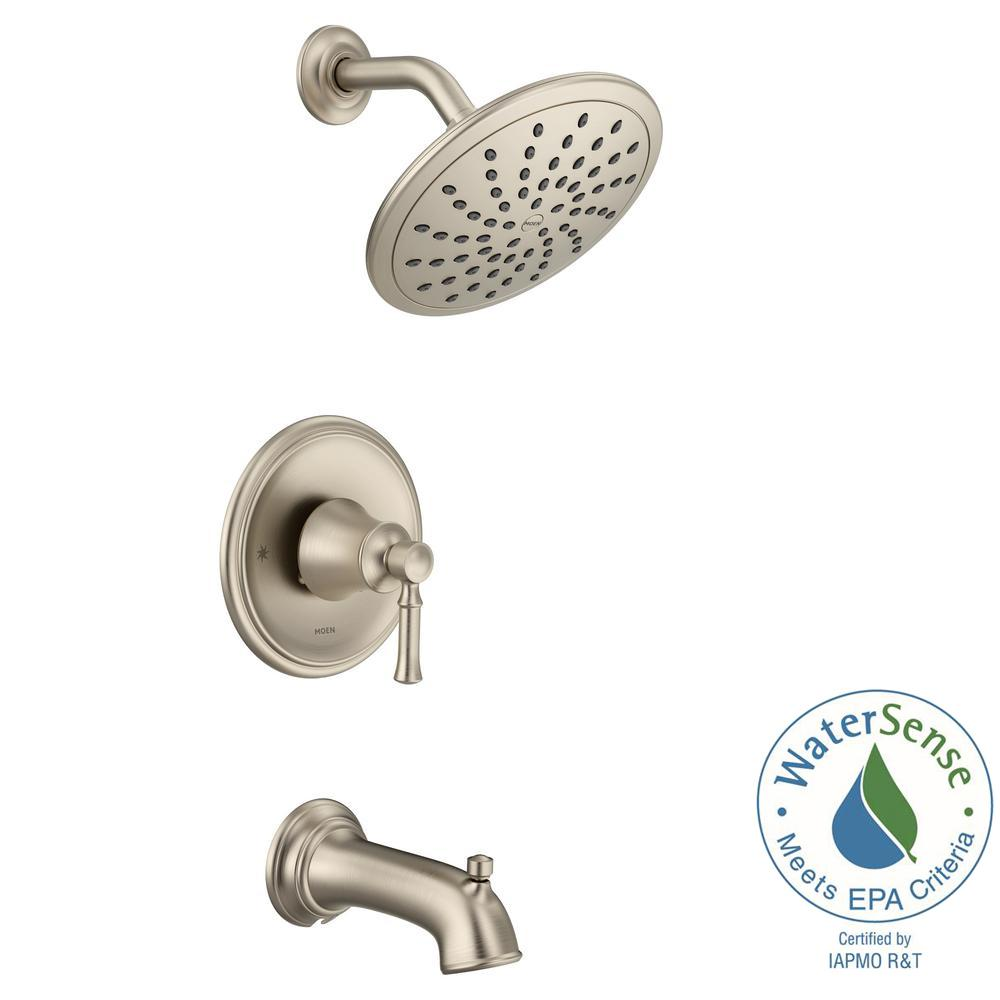 Dartmoor Posi-Temp Rain Shower 1-Handle Tub and Shower Faucet Trim Kit