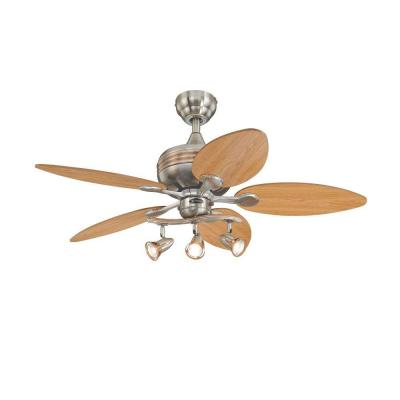 Xavier 44 in. Brushed Nickel with Copper Accents Ceiling Fan