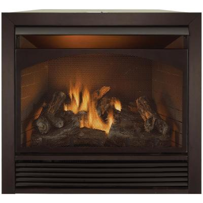 36 in. Ventless Dual Fuel Fireplace Insert with Remote Control