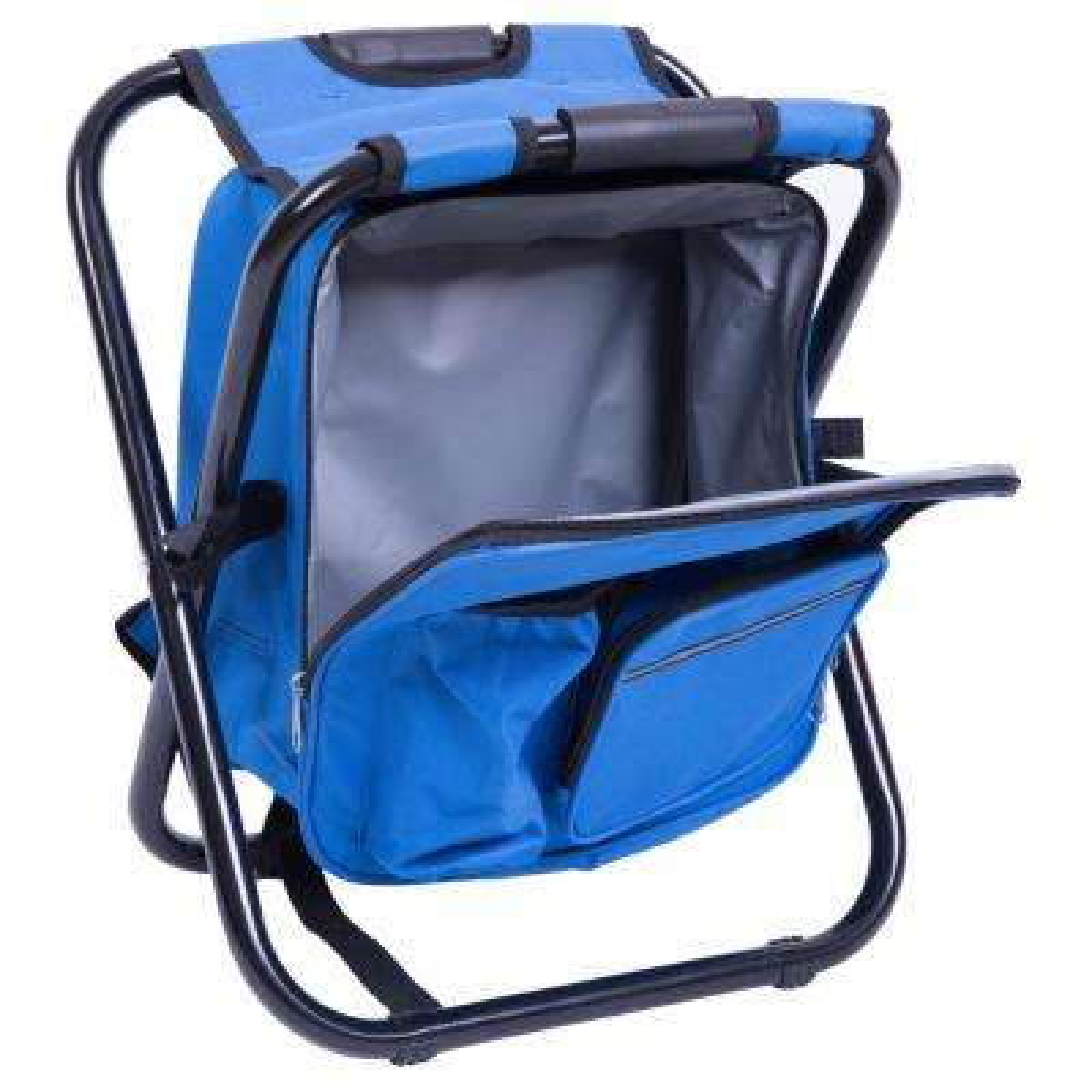 Folding 3-in-1 Stool/Backpack/Cooler Bag in Blue