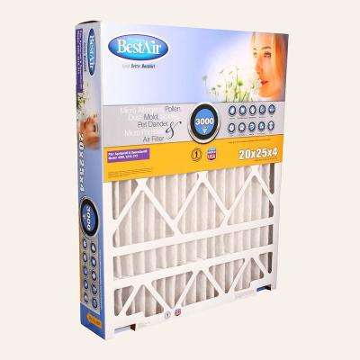 20 in. x 25 in. x 4 in. AprilAire/SpaceGard FPR 10 Air Cleaner Filter