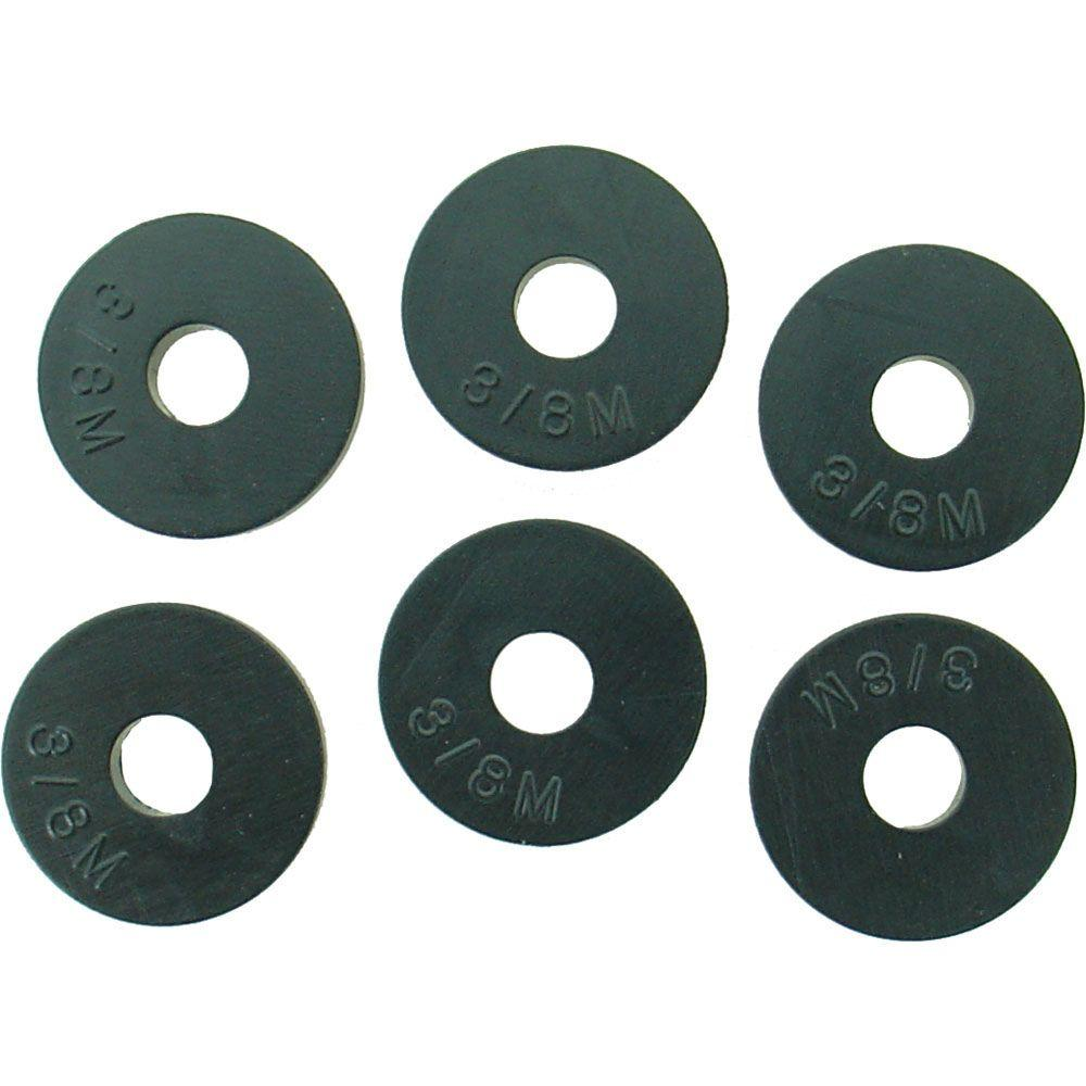 21/32 in. O.D. (3/8M Trade Size) Flat Faucet Washers (6-Pack)