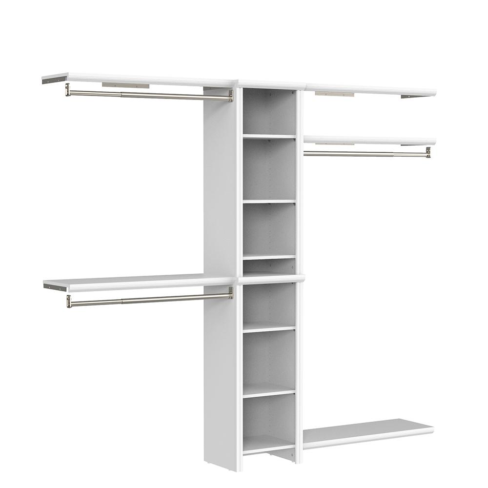 ClosetMaid Impressions Basic 48 in. W - 108 in. W White Wood Closet System