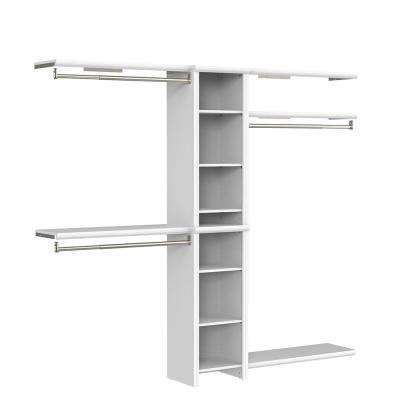 Impressions Basic 48 in. W - 108 in. W White Wood Closet System