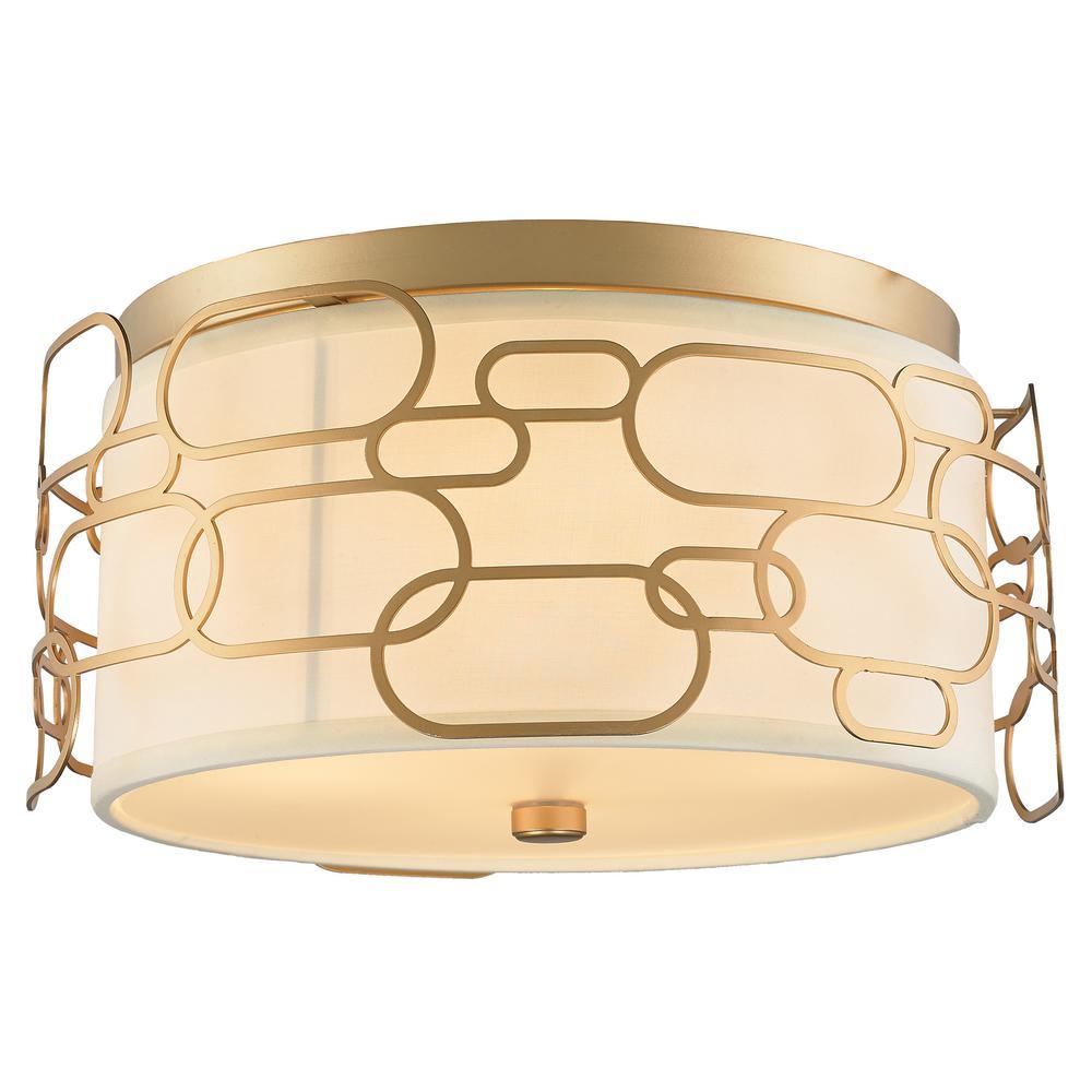Montauk 4-Light Matte Gold Flushmount