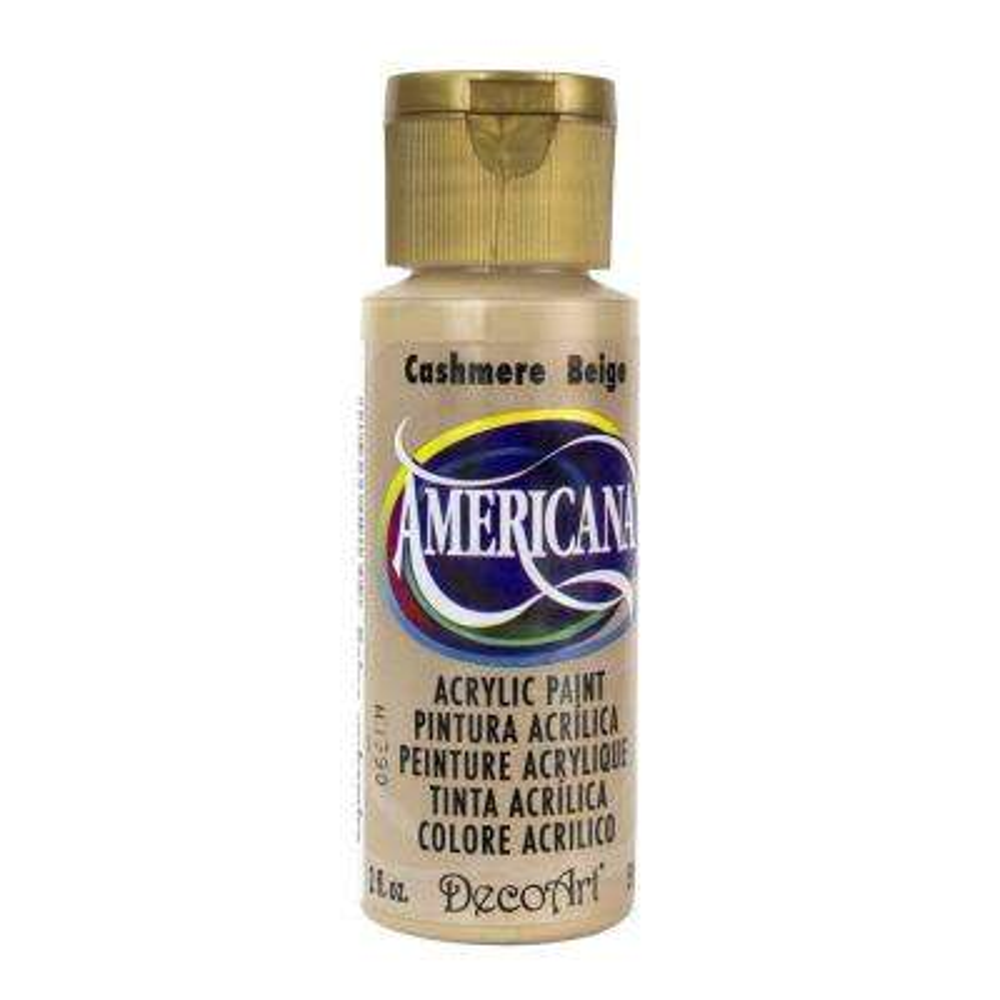 Americana 2 oz. Cashmere Beige Acrylic Paint