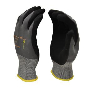 G and F MicroFoam Nitrile Coated Medium Work Gloves for General Purposes Lightweight Work Gloves (12-Pair per... by G and F