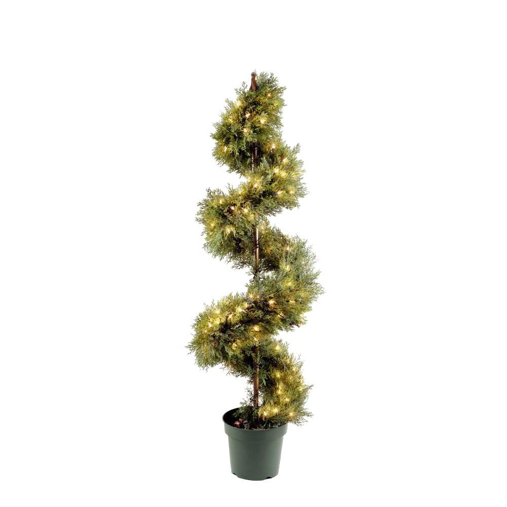 National Tree 60 in. Upright Juniper Artificial Spiral Tr...