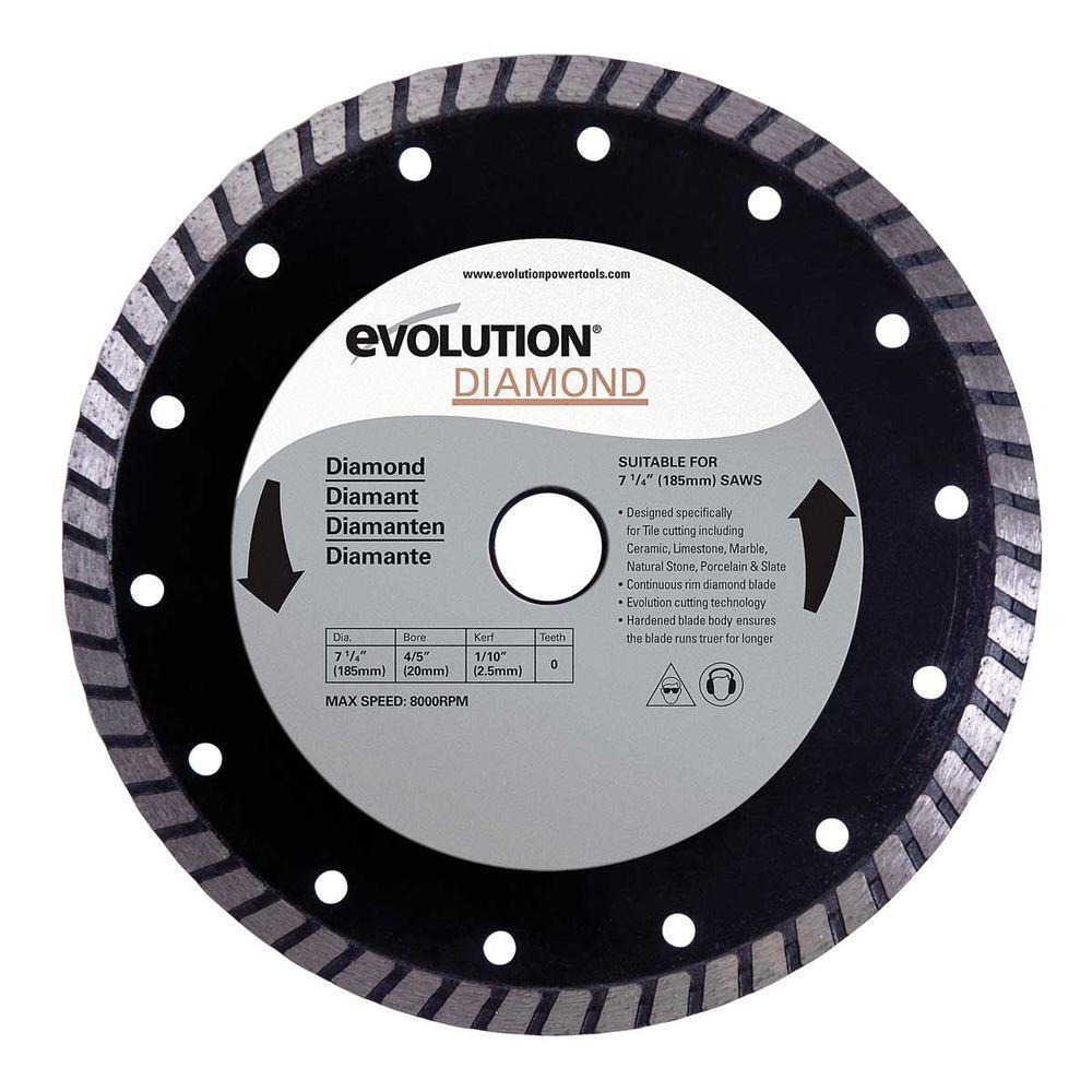 Evolution Power Tools 7-1/4 in. Diamond Masonry Blade