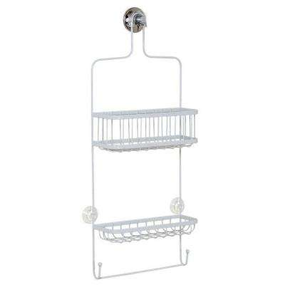 Over-the-Shower Head Caddy in White