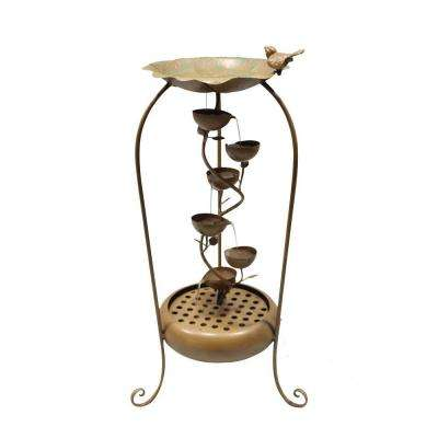 33 in. Gold 6-Leaf Tier Fountain