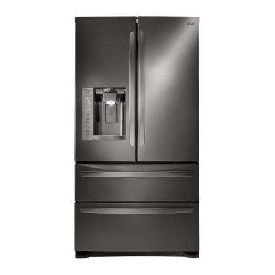 27.8 cu. ft. French Door Refrigerator in Black Stainless Steel