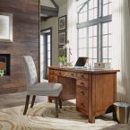 Home Styles Tahoe Aged Maple Executive Pedestal Desk
